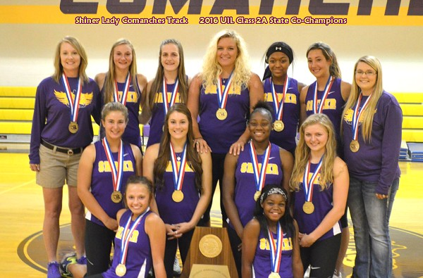 Shiner Lady Comanches - 2016 Class 2A State Track Co-Champions