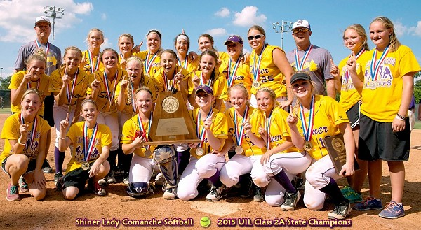 Shiner Lady Comanches - 2015 Class 2A State Softball Champions