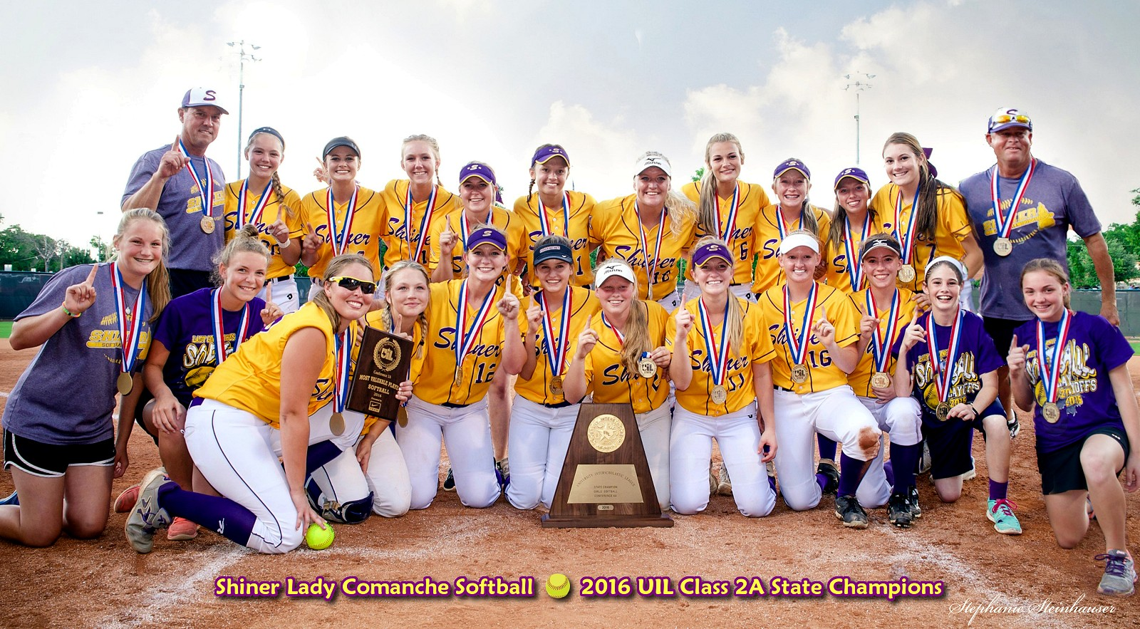 Shiner Lady Comanches - 2016 Class 2A State Softball Champions